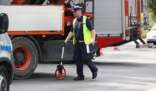 Łomianki. Wypadek na krajowej S7. Dwie osoby trafiły do szpitala