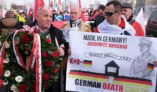 Manifestacja nacjonalistów w Oświęcimiu