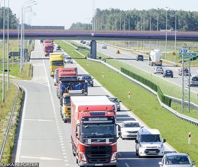 Odcinek autostrady A1 w okolicach Łodzi