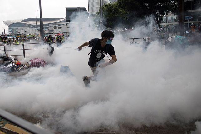 Hongkong. Policja rozgoniła demonstrację w centrum miasta