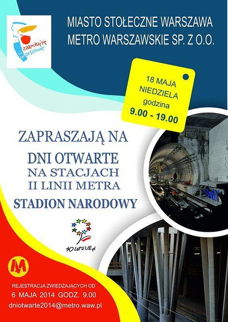 Zobacz stację metra Stadion Narodowy!