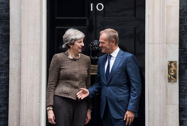 Tusk spotkał się z szefową brytyjskiego rządu na Downing Street