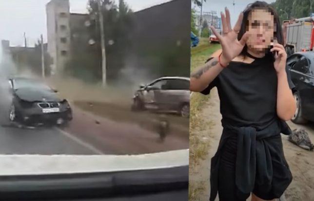 Rosja. Horror w Lipiecku. Tańczyła na tle wypadku, który spowodowała