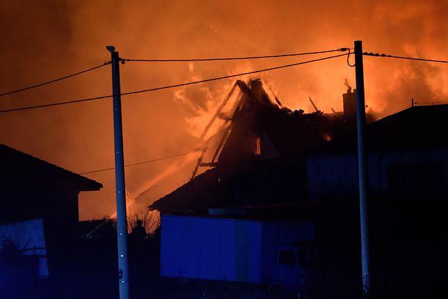 Murowana Goślina: Wybuchł gazociąg w pobliżu stacji paliw