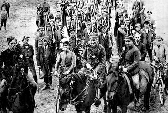 Oddział powstańczy podczas powstań śląskich