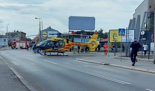 Śląskie. W centrum Chorzowa lądował helikopter Lotniczego Pogotowia Ratunkowego.