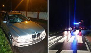 Wypadek śmiertelny w Niepołomicach. Pijany kierowca BMW potrącił pieszego na pasach i uciekł