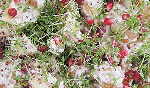 Sałatka ziemniaczana z rzeżuchą i granatem. Nie tylko na Święta