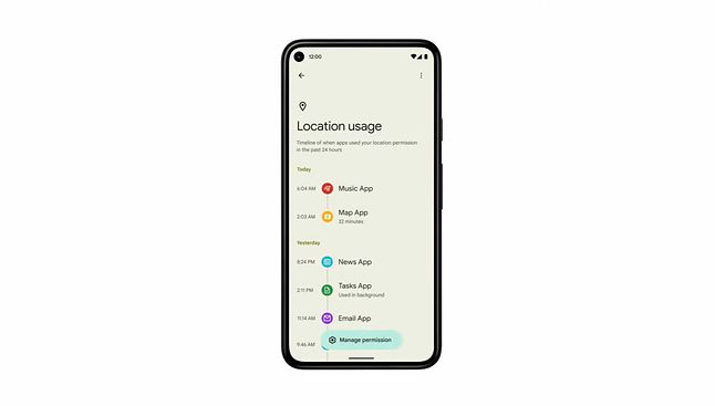 Podgląd aplikacji, które uzyskały dostęp do lokalizacji