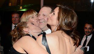 Harvey Weinstein na imprezie po rozdaniu Złotych Globów w 2014 r.