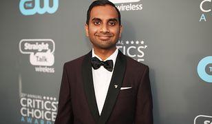 """34-letni Aziz Ansari w ubiegłym tygodniu odebrał Złotego Globa za serial """"Specjalista od niczego"""""""