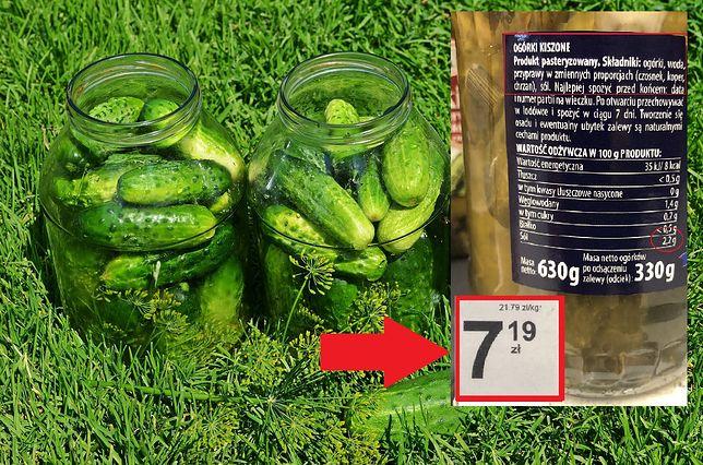 Ceny ogórków kiszonych w popularnym dyskoncie wahają się od 11 do niemal 22 złotych za kilogram.