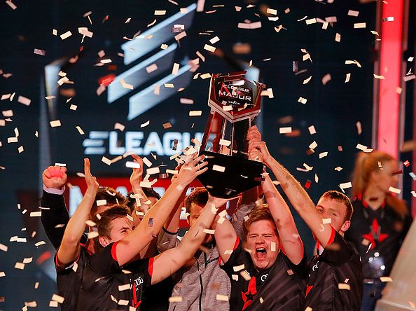 ATLANTA, GA - JANUARY 29:  Astralis celebrates winning the ELEAGUE: Counter-Strike: Global Offensive Major Championship final against Virtus.Pro at Fox Theater on January 29, 2017 in Atlanta, Georgia.  (Photo by Kevin C. Cox/Getty Images)