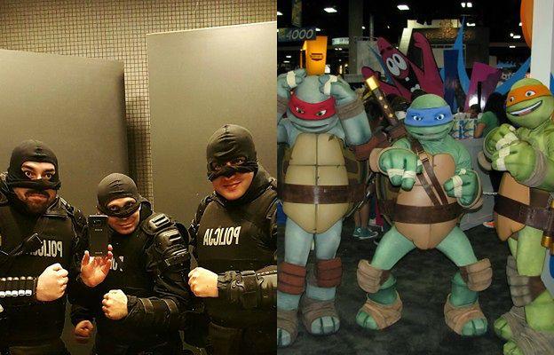 Polscy policjanci jak... Wojownicze Żółwie Ninja