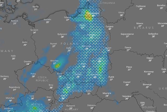 Klincz pogodowy spowoduje burze nad Polską