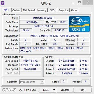 Szczegóły procesora...