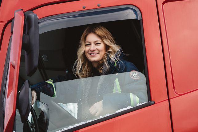 Iwona jest jedyną kobietą w zespole kierowców