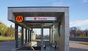 Zamknięta stacja Trocka. Metro kursuje do stacji Targówek Mieszkaniowy
