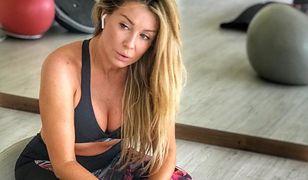 Małgorzata Rozenek na siłowni także podkreśla swoje kobiece kształty