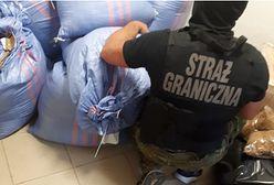 Celny strzał strażników granicznych. W aucie znaleźli nielegalny tytoń i poszukiwanego listem gończym