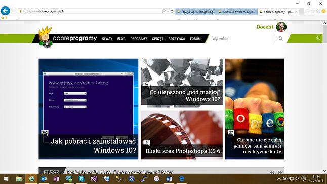 Internet Explorer na Windows 10