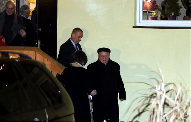 Prezes PiS Jarosław Kaczyński po spotkaniu z premierem Węgier Viktorem Orbanem