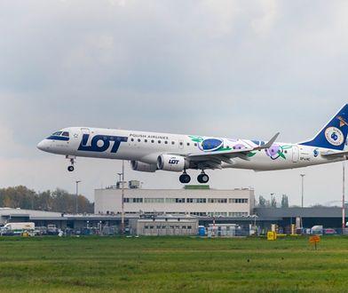 """""""Śliwkowe"""" samoloty LOT-u. Promują kolejne polskie produkty"""
