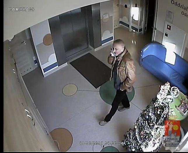 Policja poszukuje sprawcy kradzieży w szpitalu dziecięcym! Rozpoznajesz tego mężczyznę?