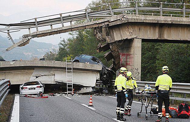 W Lombardii na północy Włoch runął wiadukt. Jedna osoba zginęła, cztery zostały ranne