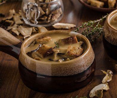 Zupa z mrożonych grzybów - przepis