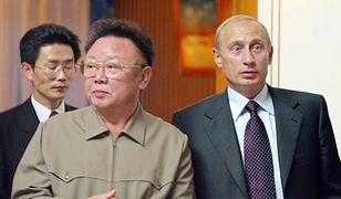 Prezydent Rosji Władimir Putin i ówczesny przywódca Korei Północnej Kim Dzong-Il (zdj. arch.)