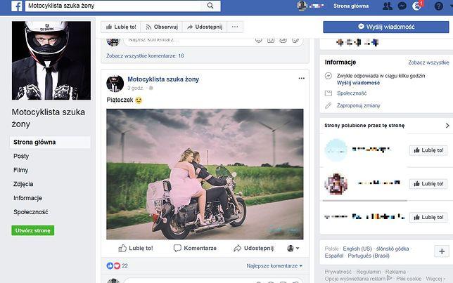 """Prawie 40 tysięcy ludzi należy do grupy """"Motocyklista szuka żony"""""""