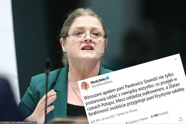 Pawłowicz zaapelowała do Szwedów. Odpowiedział jej Marek Belka przypominając wpadkę byłej posłanki w Sejmie
