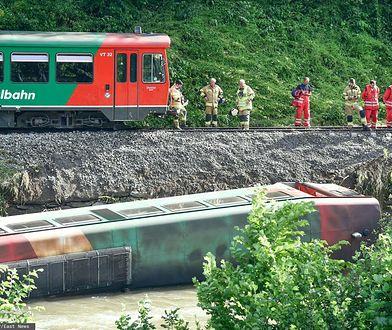 Austria. Wypadek pociągu w Alpach. Są ranni