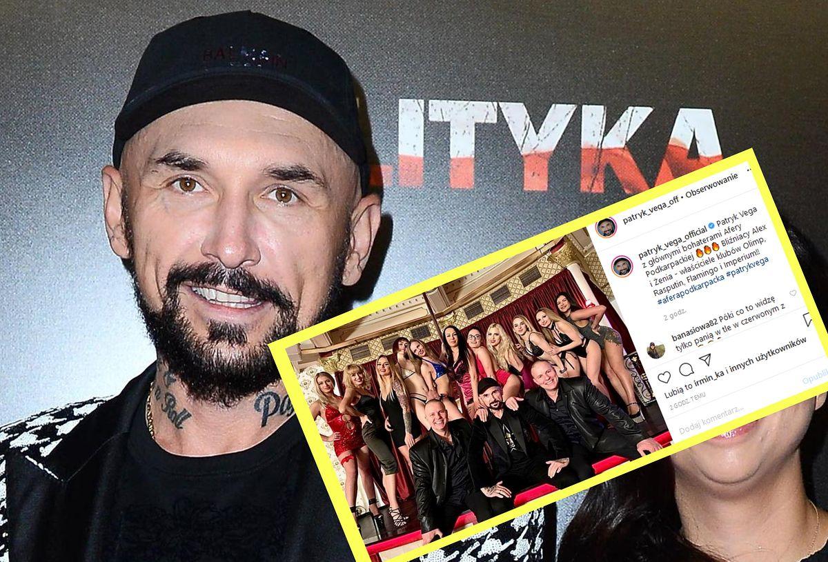 Patryk Vega zdradził, o czym kręci nowy film. Pokazał też kontrowersyjne zdjęcie