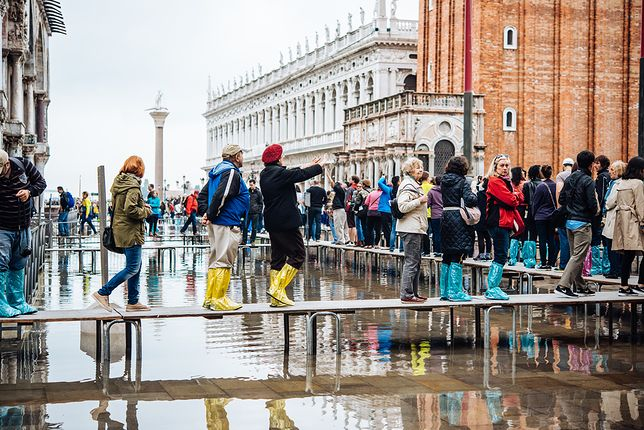 Plac świętego Marka został zamknięty przez władze Wenecji