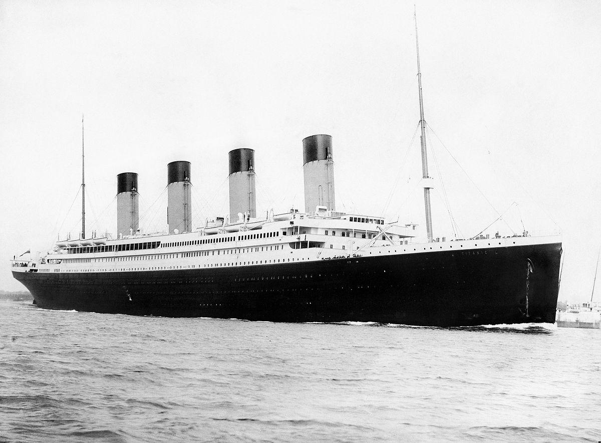 RMS Titantic. Zdjęcie wykonane 10 kwietnia 1912 r.