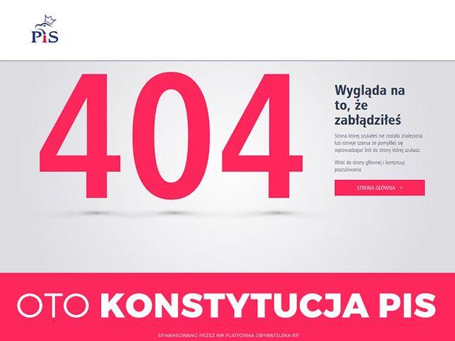 """""""Kopacz not found"""". Błąd 404 hitem sieci - zdjęcia"""