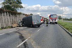 Kielce. Wypadek trzech pojazdów. Są ranni