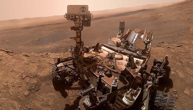 Łazik Curiosity na selfie