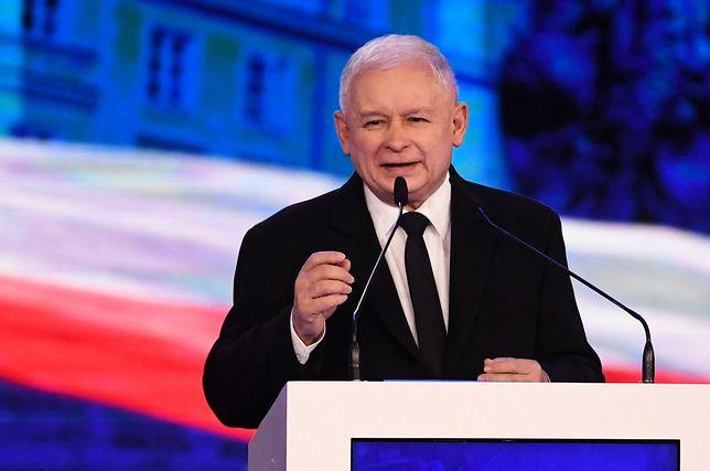 Jarosław Kaczyński przemawiał w Jachrance na wyjazdowym posiedzeniu PiS