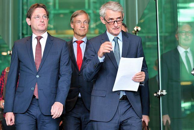 Od lewej: Kees Sterk, prezydent Europejskiej Sieci Rad Sądownictwa (ENCJ), Maarten Feteris, prezes SN Holandii i Michał Laskowski, rzecznik SN