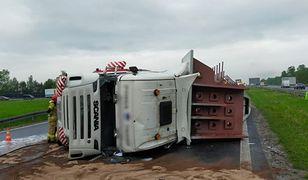 Mysłowice. Autostrada z powodu wypadków ciężarówek była przez kilka godzin nieprzejezdna.