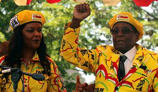 Prezydent Robert Mugabe z żoną Grace Mugabe