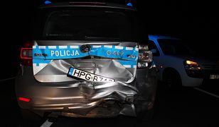 28-latek wjechał w radiowóz. Był kompletnie pijany
