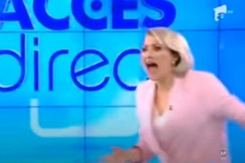 Co tam się działo?! Naga kobieta zaatakowała podczas programu na żywo