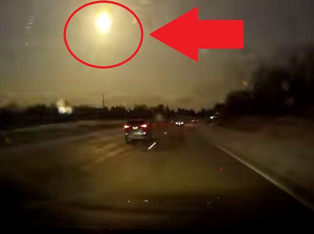 Meteor rozświetlił całe niebo