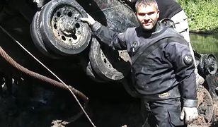 """Przemysław Budzich z kanału YouTube """"Tank Hunter"""" zrelacjonował całą akcję w formie wideo"""