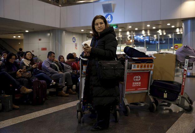 Ursula Gauthier na lotnisku w Pekinie.
