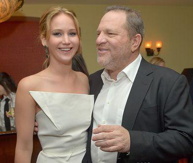 Jennifer Lawrence i Harvey Weinstein w 2013 r.